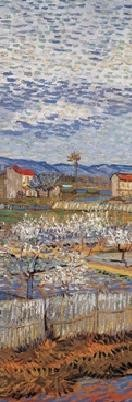 Reproducción de arte La Crau with Peach Trees in Blossom, 1889