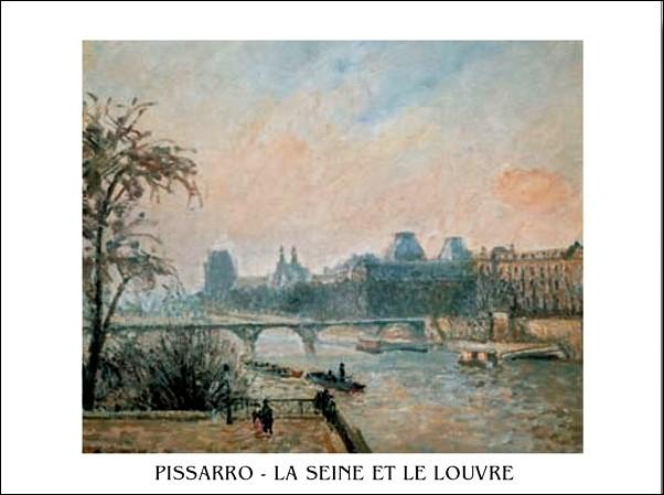 Lámina La Seine et le Louvre - The Seine and the Louvre, 1903