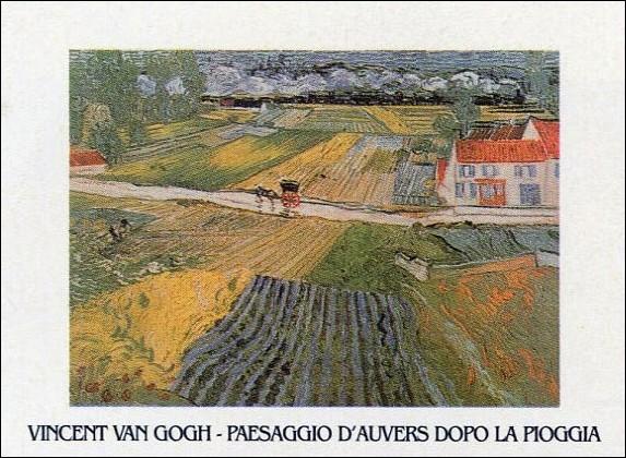 Reproducción de arte  Landscape at Auvers after the Rain, 1890