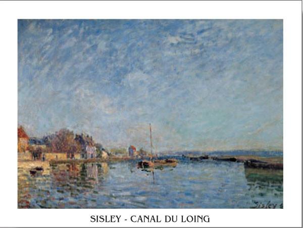 Lámina Le canal du Loing - The Loing's Canal
