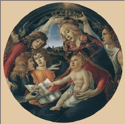 Reproducción de arte  Madonna of the Magnificat, 1481-85