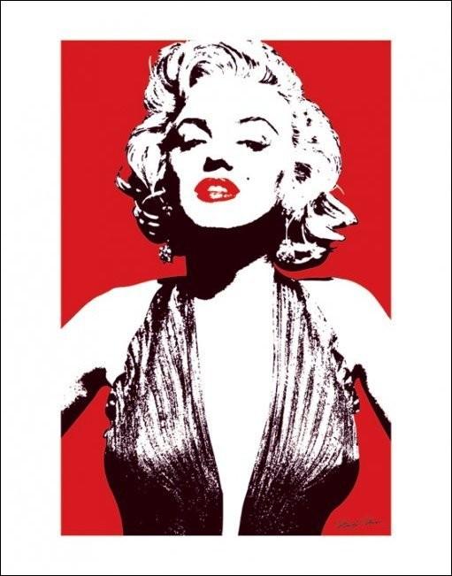 Reproducción de arte Marilyn Monroe - Red
