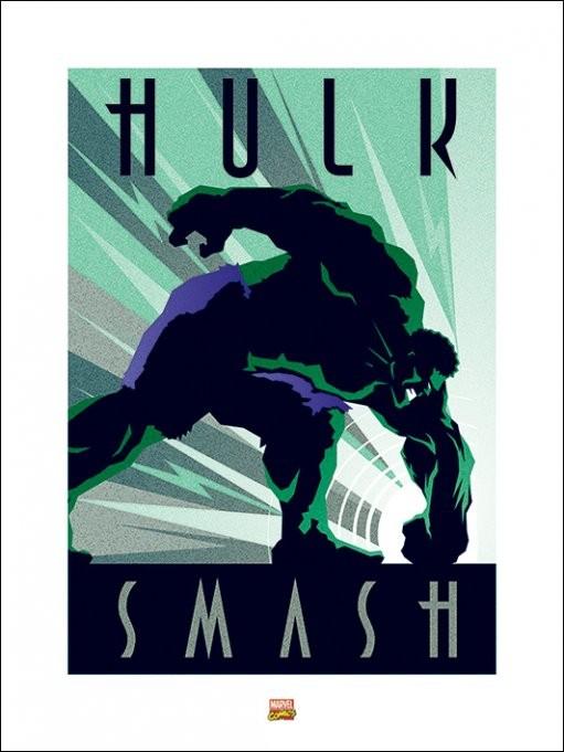 Reproducción de arte Marvel Deco - Hulk