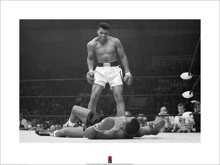 Reproducción de arte  Muhammad Ali vs Liston