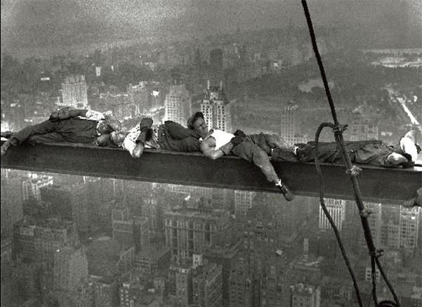 Reproducción de arte Nueva York - Radio city workers - muži na traverze