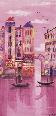 Lámina Pink Venice
