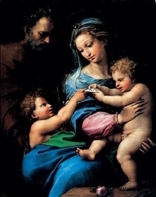 Reproducción de arte  Raphael Sanzio - Madonna of the Rose - Madonna della rosa, 1520