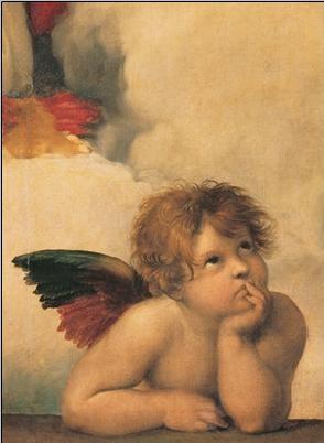 Reproducción de arte  Raphael Sanzio - Sistine Madonna, detail – Cherubs, Angels 1512