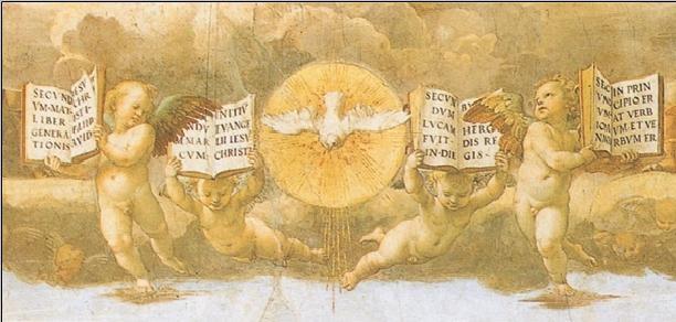 Reproducción de arte  Raphael - The Disputation of the Sacrament, 1508-1509 (part)