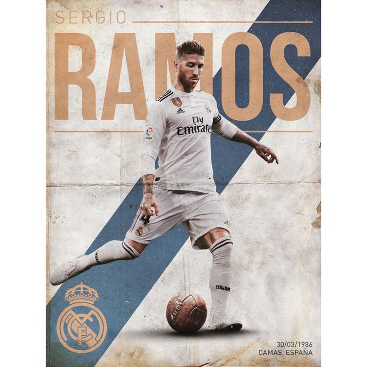 Reproducción de arte  Real Madrid - Ramos