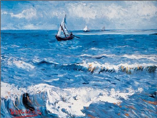 Reproducción de arte  Seascape at Saintes-Maries, 1888