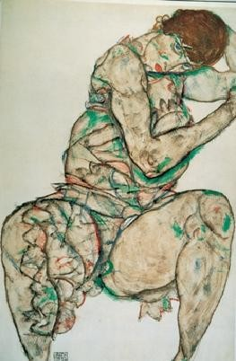 Reproducción de arte  Seated Woman with Her Left Hand in Her Hair, 1914