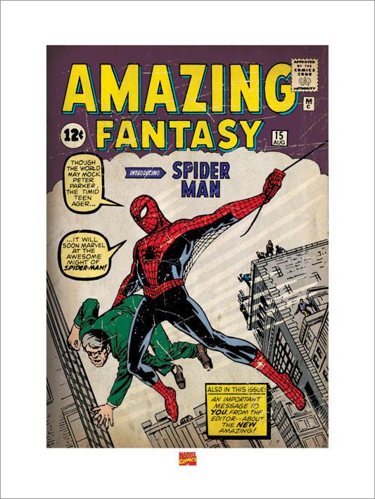 Reproducción de arte Spider Man