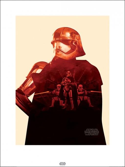 Reproducción de arte  Star Wars Episode VII: The Force Awakens - Captain Phasma Tri
