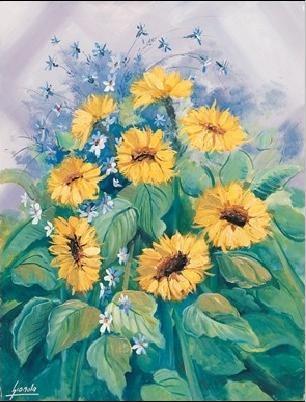 Lámina Sunflowers