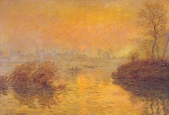 Reproducción de arte  Sunset on the Seine at Lavacourt