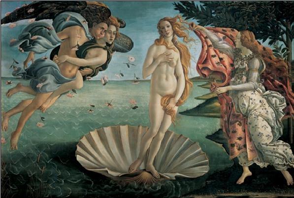 Reproducción de arte  The Birth of Venus