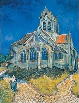Reproducción de arte  The Church at Auvers, 1890