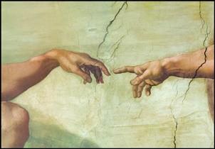 Reproducción de arte The Creation of Adam (Part)
