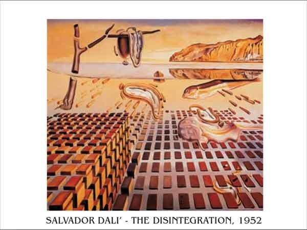 Reproducción de arte The Disintegration of the Persistence of Memory, 1952-54