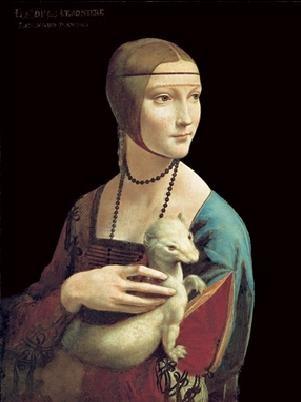 Reproducción de arte The Lady With the Ermine