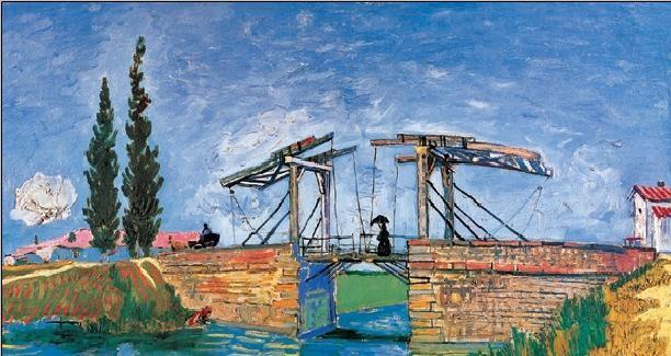 Reproducción de arte  The Langlois Bridge at Arles, 1888 (part.)