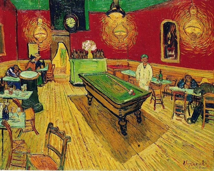 Reproducción de arte The Night Café, 1888