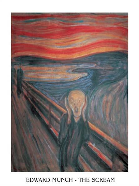 Reproducción de arte The Scream, 1893