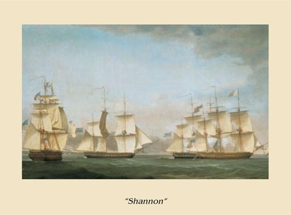 Reproducción de arte  The Ship Shannon
