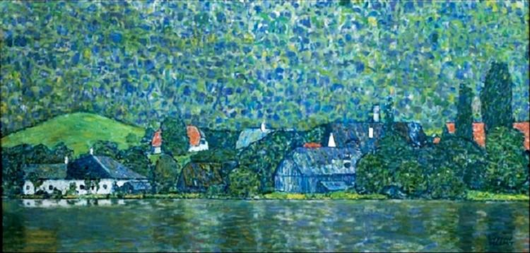 Reproducción de arte Unterach on Lake Attersee, Austria (part)