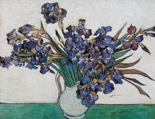 Reproducción de arte  Vase with Irises, 1890