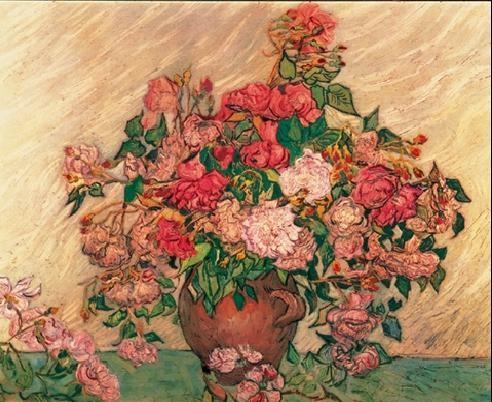 Reproducción de arte  Vase with Pink Roses, 1890
