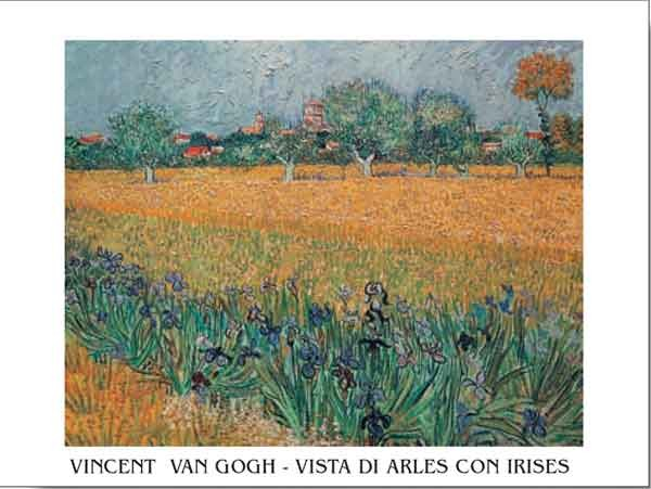 Reproducción de arte  View of Arles with Irises in the Foreground, 1888