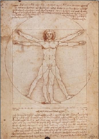 Reproducción de arte Vitruvian Man