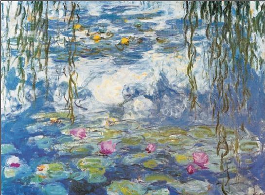 Reproducción de arte  Water Lilies, 1916-1919