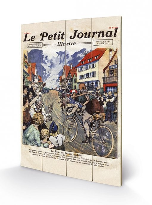 Le Tour de France - Le Petit Journal plakát fatáblán