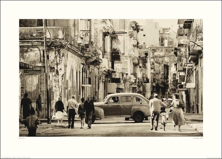 Lee Frost - Havana Street, Cuba  Festmény reprodukció