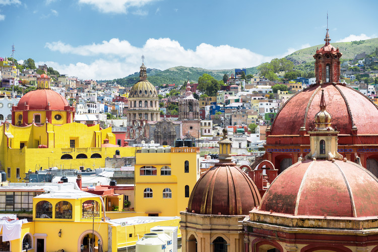 Leinwand Poster Guanajuato Architecture