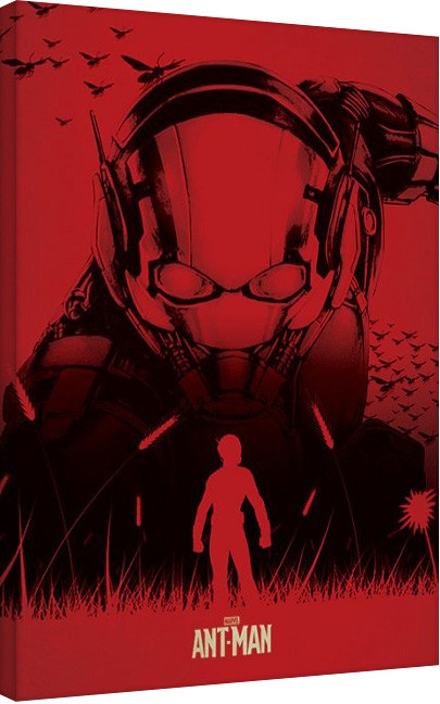 Leinwand Poster Ant-Man - Silhouette
