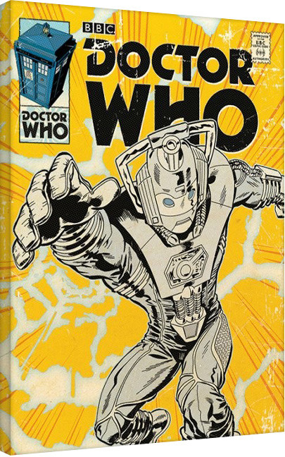 Leinwand Poster Doctor Who - Cyberman Comic