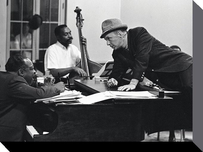 Leinwand Poster Frank Sinatra - piano