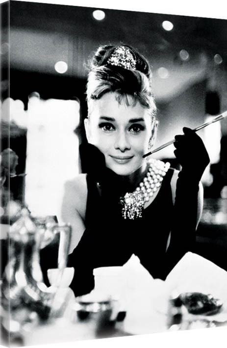 leinwand poster bilder audrey hepburn breakfast at tiffany 39 s b w bei europosters. Black Bedroom Furniture Sets. Home Design Ideas