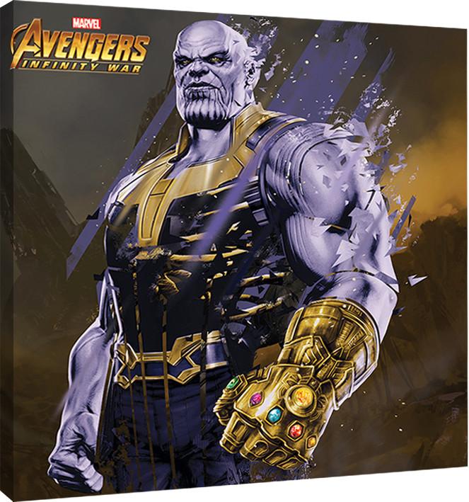 Leinwand Poster Bilder Avengers Infinity War Thanos Fragmented