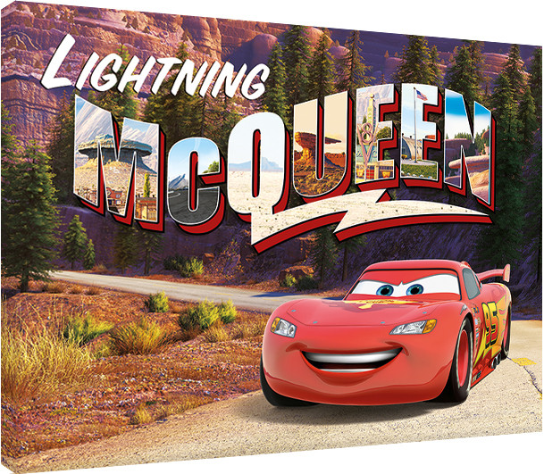 Leinwand Poster Bilder Cars Lightning Mcqueen Mountain Drive Bei