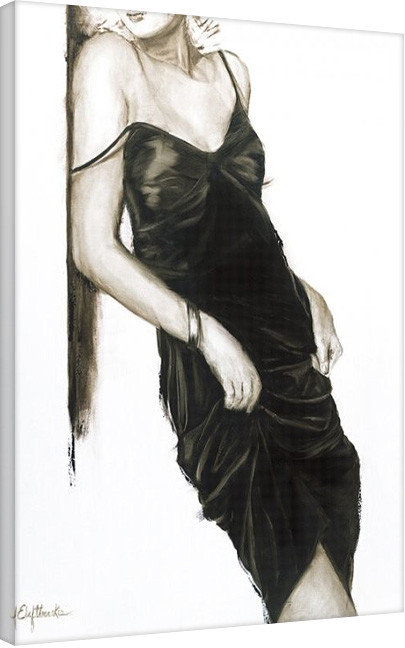Leinwand Poster Janel Eleftherakis - Little Black Dress I