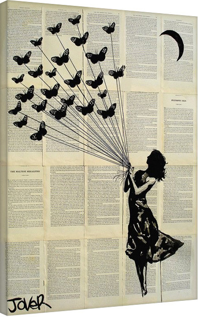 leinwand poster bilder loui jover butterflying bei. Black Bedroom Furniture Sets. Home Design Ideas