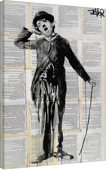 Leinwand Poster Loui Jover - The Little Tramp