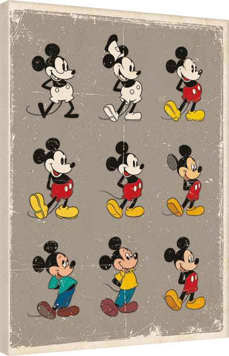 Leinwand Poster, Bilder Micky Maus (Mickey Mouse) - Evolution bei  EuroPosters