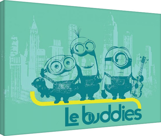 Leinwand Poster Minions (Despicable Me - Le Buddies