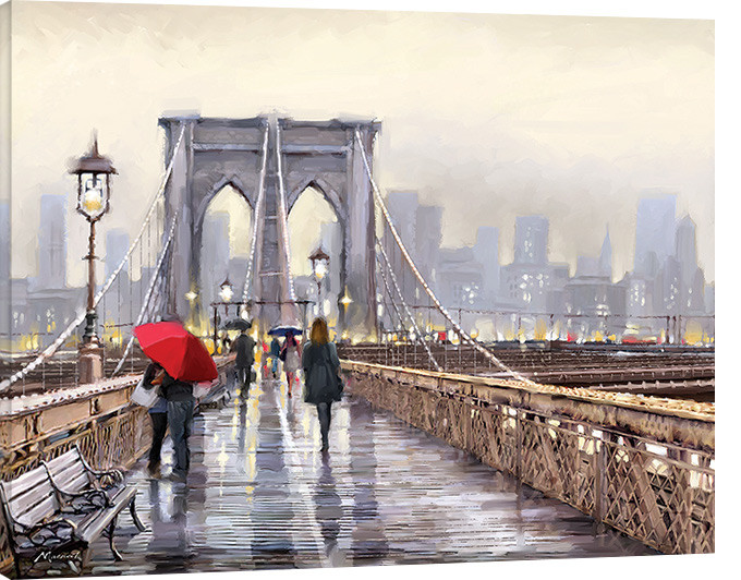 leinwand poster bilder richard macneil brooklyn bridge bei europosters. Black Bedroom Furniture Sets. Home Design Ideas